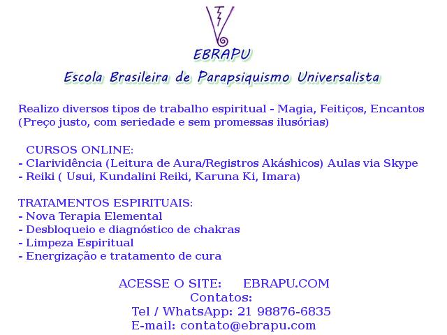 Cursos de Clarividência, leitura de aura, leitura de registros akáshicos, reiki e tratamentos espirituais
